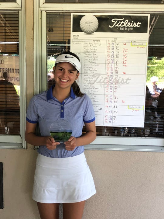 Licking Heights senior Mariana Vega won the Optimist International Qualifier at The Golf Club at Yankee Trace in June.
