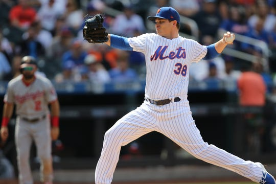 Justin Wilson was one of seven pitchers that took the mound for the Mets, Sunday.  Combined, the pitchers threw 15 strikeouts. August 11, 2019