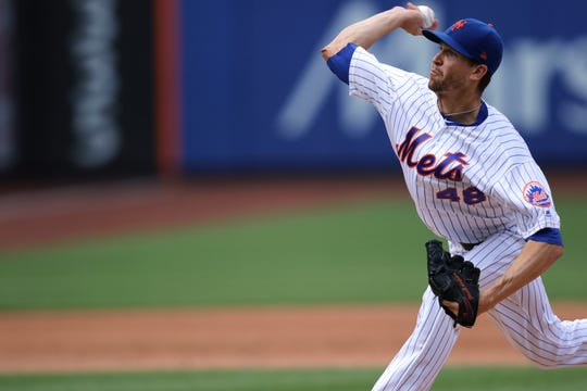 Jacob deGrom started the game for the Mets. He pitched five inning without giving up an earned run. Sunday, August 11, 2019