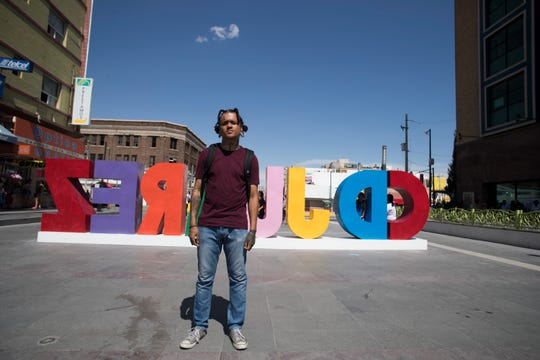 Jaime Flores, 21, wrote a rap song about the contrast between violence in Ciudad Juárez, Mexico, and the violence that occurred in El Paso, Texas, on Aug. 3, 2019, when 22 people were killed by a shooter at a Walmart.