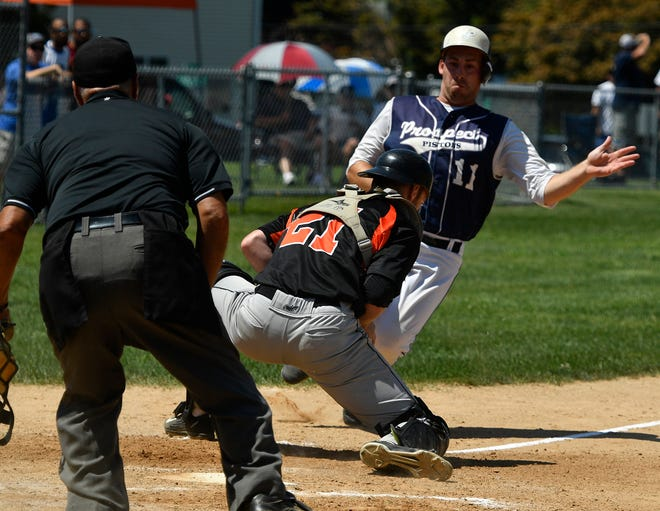 Central League champion Stoverstown and Susquehanna League champion East Prospect are seen here in action the 2019 York County Championship Series. The two leagues have agreed to return to interleague regular-season games this summer, as well as hold the annual all-star game between the two leagues. The leagues will also again compete against each other for the overall county championship.