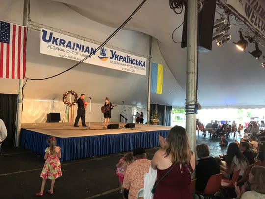 Entertainment at St. Josaphats Ukrainian Festival.