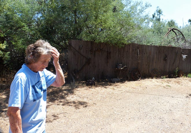 Sandra Winters said she is concerned about brush growing along a fence near her property. She said she hopes a proposed Shasta County ordinance would require her neighbor to clear away the brush.