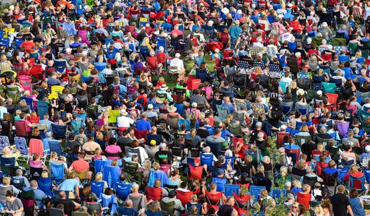 An estimated 7,000 people attended the final concert of the season at Levitt at the Falls on Saturday evening, August 10, in Sioux Falls. Kory and the Fireflies headlined the night.
