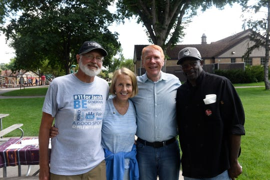 Jerry Wetterling, Lea Iverson, Vern Iverson and Guice Harbor worked together to coordinate and host the 2nd annual Unity Picnic in St. Cloud