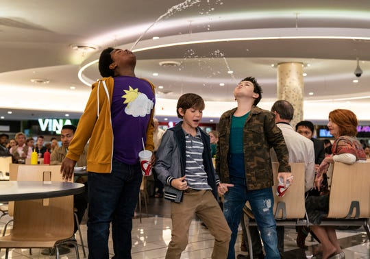 "Lucas (Keith L. Williams), Max (Jacob Tremblay) and Thor (Brady Noon) are likable rapscallions in ""Good Boys."""