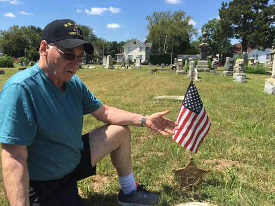 Bob Smith in Keyport's Green Grove Cemetery.