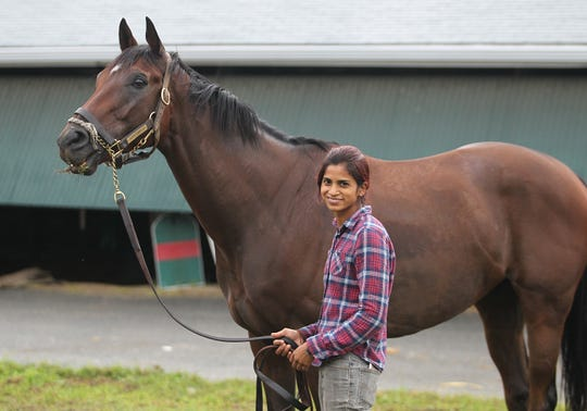Trainer Aparna Battula has been supended indefinitely at Monmouth Park.
