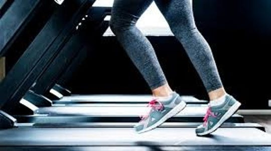 It's very common for a woman on a treadmill to leak a little bit while exercising.