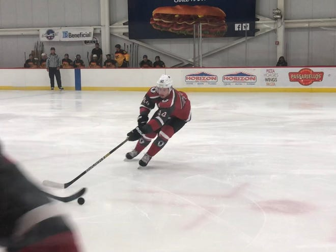 Joel Farabee played in Checking For Charity with NHL linemates in New York Rangers forward Chris Kreider and Columbus Blue Jacket Sonny Milano.