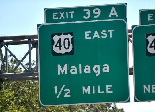 Malaga sign.
