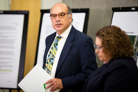 Attorneys Al Gerhardstein and Jennifer Branch announce that the Plush family is pursing legal action against the City of Cincinnati at a news conference Monday, Aug. 12, 2019, in downtown Cincinnati.