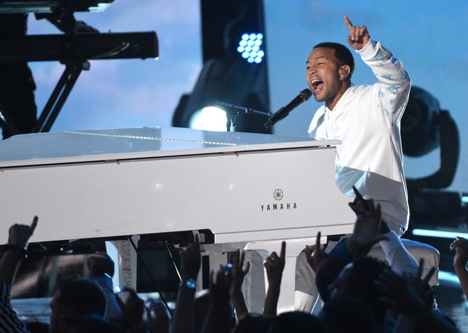 Ohio native John Legend performs at the BET Awards in 2019 in Los Angeles.