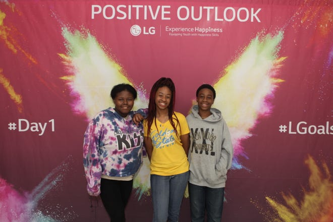 LG hosts Life's Good: Experience Happiness event at Kenwood Middle School in Clarksville, Tennessee on Tuesday, August 6, 2019.