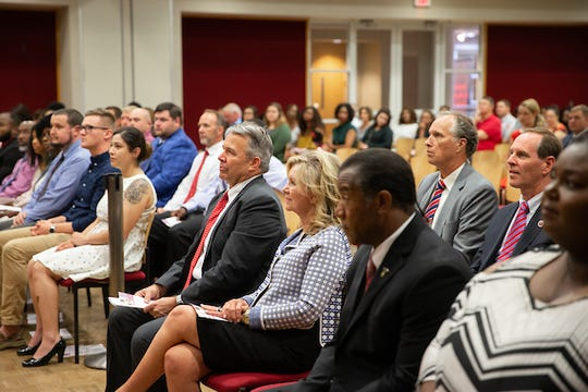U.S. Sen. Marsha Blackburn attends APSU's Military and Veteran Graduate Recognition Ceremony.