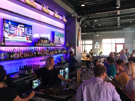 The cocktail bar is separate from the sushi bar at Wasabi Ankeny.