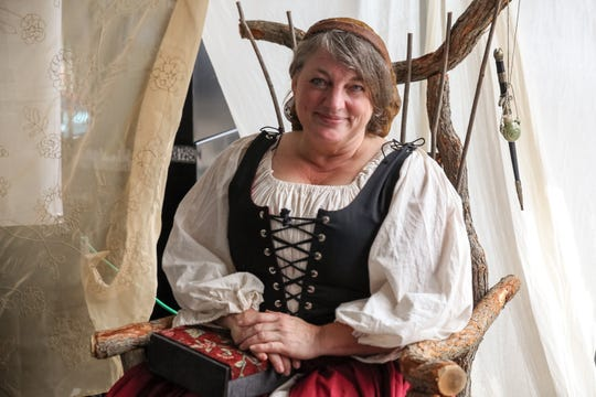 Costumed revelers representing every level of 16th-century English society lend authenticity to the Michigan Renaissance Festival.