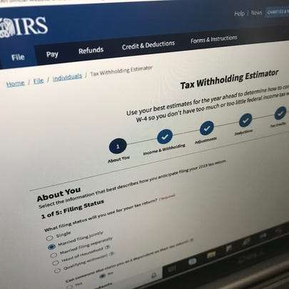 The Internal Revenue Service has rolled out a new online tool for making it easier to figure out whether you're on track for a tax refund -- or owing money -- for your 2019 tax return. The site helps you fill out a W-4 form accurately to reflect your expected tax bill.