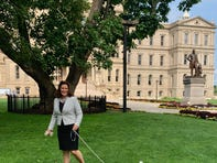 Gov. Gretchen Whitmer's family gets a dog named Kevin, and he's adorable