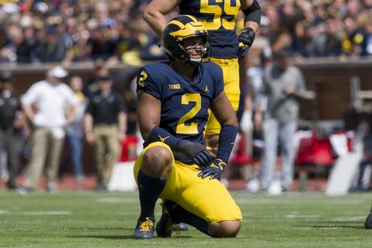 Michigan defensive lineman Carlo Kemp hopes to do a better job at putting pressure on opposing quarterbacks this season.