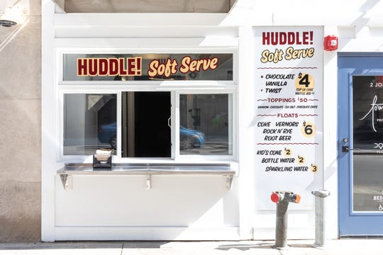 Frozen custard counter Huddle is now open in downtown Detroit