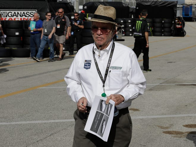 Jack Roush put special decals on his cars Sunday to honor former U.S. Marine and friend Larry Hicks.