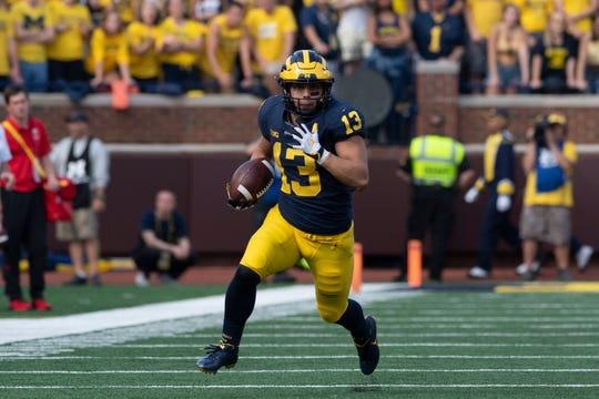 Tru Wilson ran for 364 yards on 62 carries last season as Michigan's No. 3 running back.