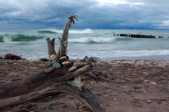 """Stormy Fall, Lake Superior,"" by Devon Kotke of Williamston, taken at Whitefish Point."