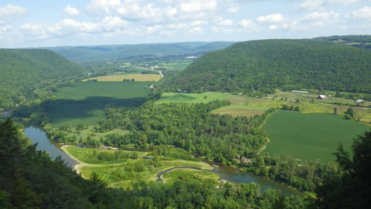 A view overlooking the Chemung River Valley in Big Flats. The Finger Lakes Land Trust had acquired several pieces of property along the valley.