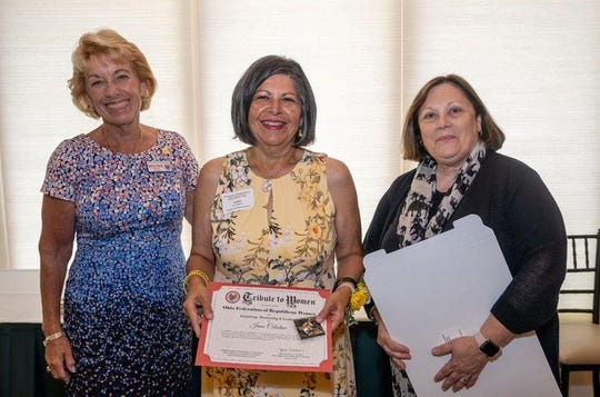 Irma Celestino, center, was recently honored by the Ohio Federation of Republican Woman.