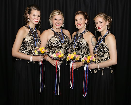 Duly Noted won first place July 27 at Sweet Adelines International's 2019 Rising Star Quartet Contest. The barbershop quartet's members live in Fort Myers and the Tampa area.