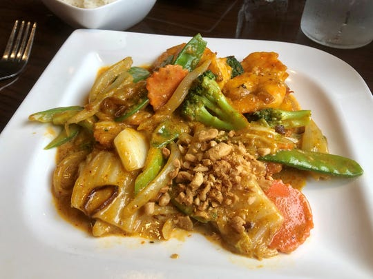 An order of Vietnamese yellow curry with shrimp and peanuts ($14) from Viet Village.