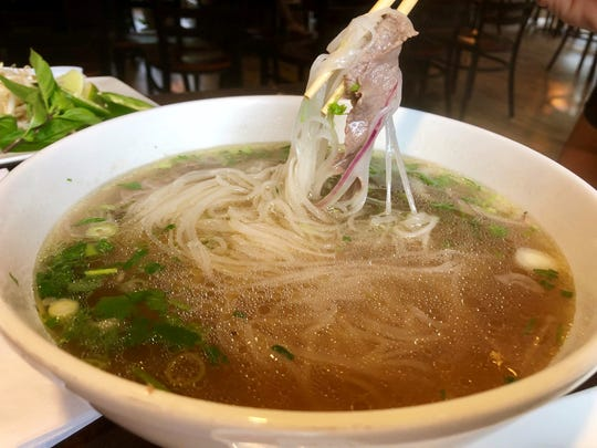 A bowl of pho ($12.50) from Viet Village.