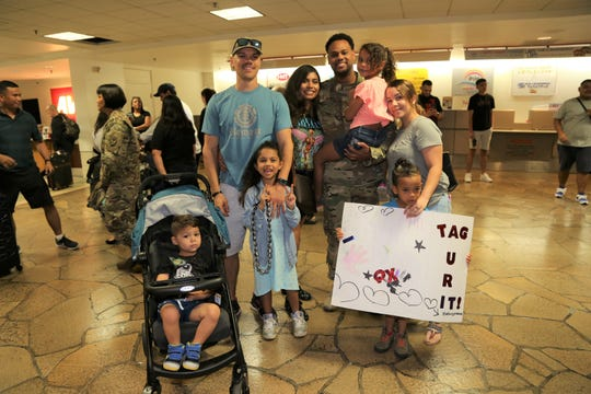 Technical Sergeant Carlos Paulino returns from deployment.