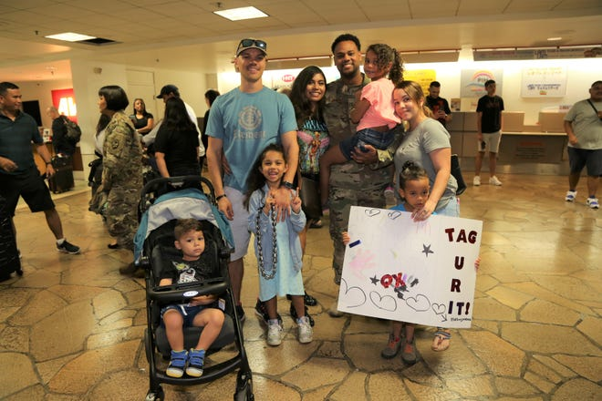 Technical Sergeant Carlos Paulino returns from deployment.