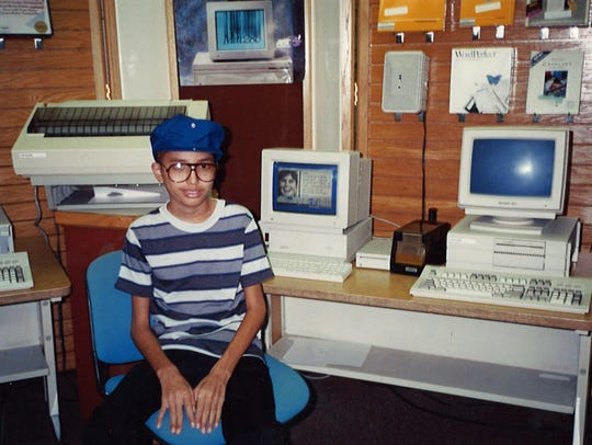1989: Despite a then life-threatening illness, Mike Bartels got his wish, the computer of his dreams, in Hawaii, He survived the illness and thrived.