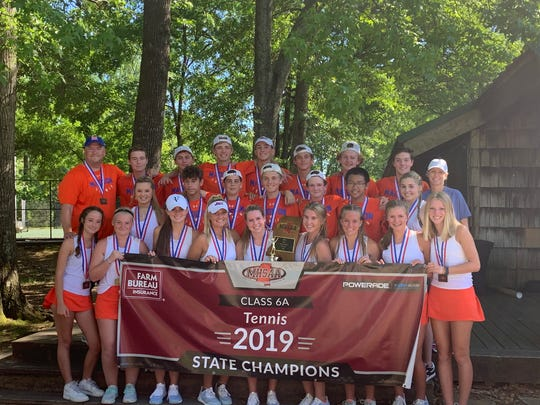 The Madison Central tennis team won the 2018-19 6A state title.