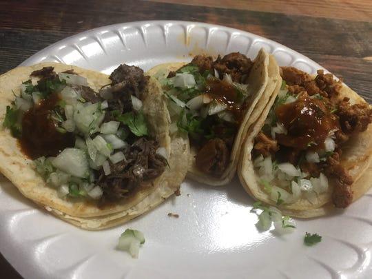 Tacos from Taqueria La Herradura