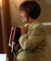 The Lafayette Parish Association of Educators honors former Louisiana Gov.  Kathleen Blanco for her work to enhance Louisiana's public education system Thursday at A La Carte July 17, 2008.