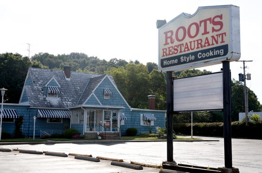 No specials are listed on the sign Monday morning, Aug. 12 2019, in front of Roots Restaurant on North Memorial Drive in Lancaster. The restaurant closed Sunday.