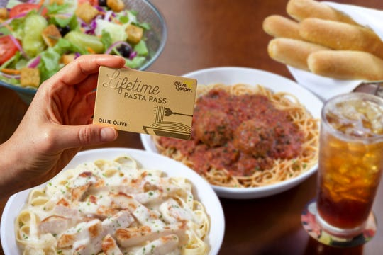 How much do you love pasta? Olive Garden is selling 50 Lifetime Pasta Passes on August 15, 2019