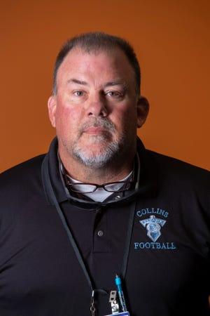 Collins High School football head coach Jerry Lucas.