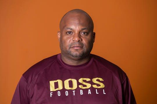 Doss High School football's head coach Michael Crowe.