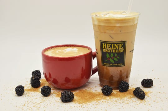 Bourbon Blackberry Latte from Heine Brothers' Coffee in Louisville.