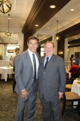 Dr. Mehmet Oz and Vincenzo Gabriele at Vincenzo's restaurant in Louisville