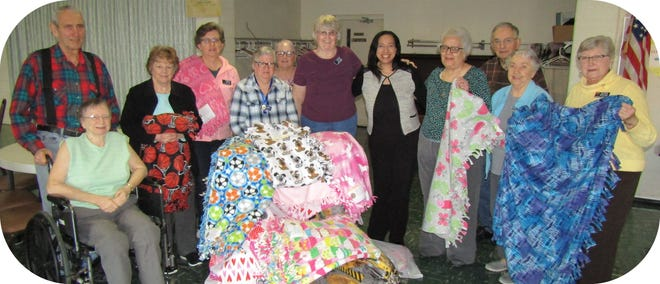 The Mansfield Civitan Club made and donated over 50 blankets for Richland County Children Services this year. If the club doesn't see an influx of new members by the end of the month, it will likely be disbanded.