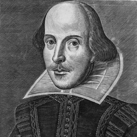 A 1623 engraving of the Bard.