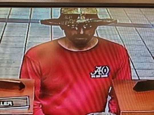 Prattville Police are seeking information about a man they suspect robbed a bank at First Community Bank at E. Main Street.