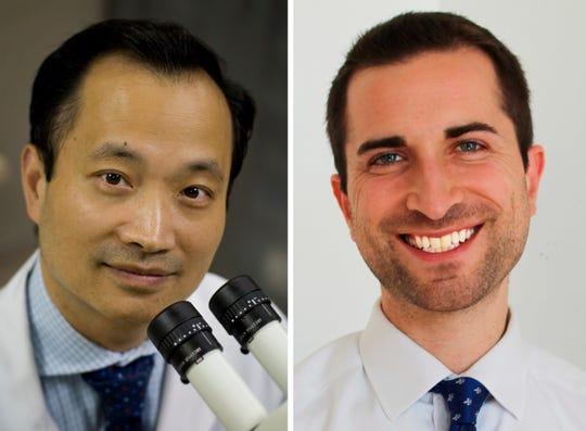 Dr. Ming Wang (left) and Dr. Joshua Frenkel of Wang Vision 3D Cataract & LASIK Center.