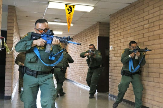 On July 19th, Hudspeth County Sheriff deputies, Border Patrol agents, along with a Texas Game Warden and a Texas State Trooper participated in a day long training event. The training taught the local law enforcement officers the basics of clearing rooms and addressing a threat in a tactical and unified manner.